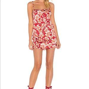 Melanie Slip Dress in Cranberry Floral